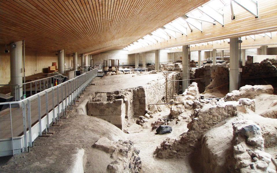 AKROTIRI ซากเมืองโบราณใต้เถ้า แหล่งประวัติศาสตร์สำคัญ
